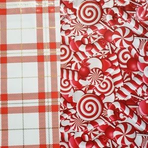 50 designer plaid/candy cane 6x9 poly mailers